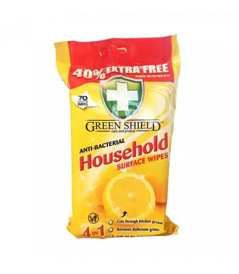 Chusteczki nawilżane Green Shield Household 70 sztuk