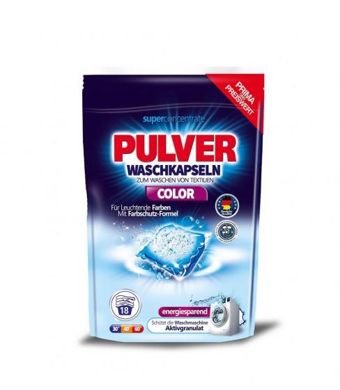 Kapsułki do prania Pulver Waschkapseln Color 18 sztuk
