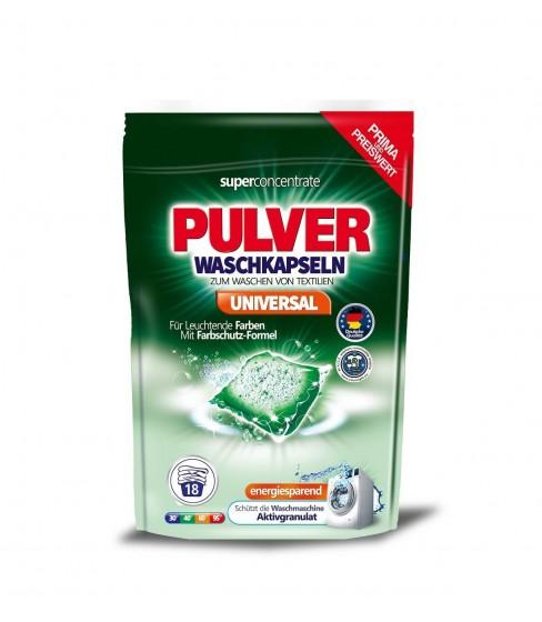 Kapsułki do prania Pulver Waschkapseln Universal 18 sztuk