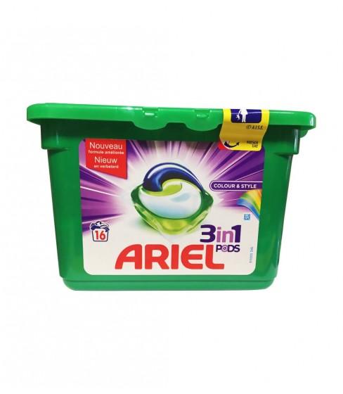Kapsułki do prania Ariel 3in1 Color&Style 16 sztuk