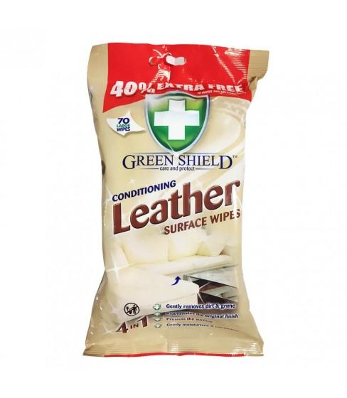 Chusteczki nawilżane Green Shield Leather 70 sztuk
