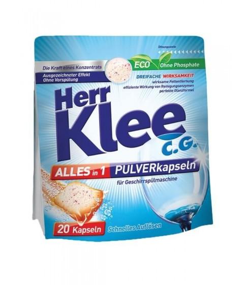 Kapsułki proszkowe do zmywarki Herr Klee 20 sztuk