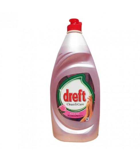 Płyn do mycia naczyń Dreft Clean&Care Rose&Satin 820 ml