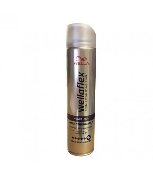 Lakier do włosów Wellaflex Mega Strong 5+ 250 ml