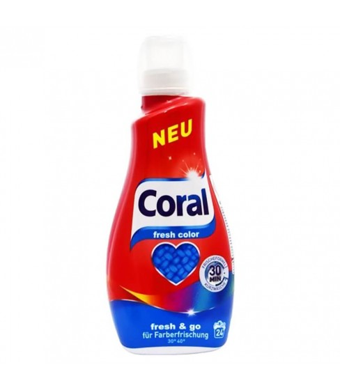 Płyn do prania Coral Fresh Colour 1,2 l - 24 WL