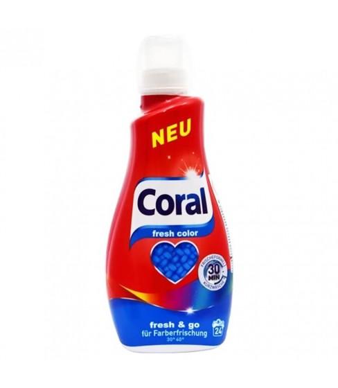 Płyn do prania Coral Fresh Colour 1,2 l - 24 WL