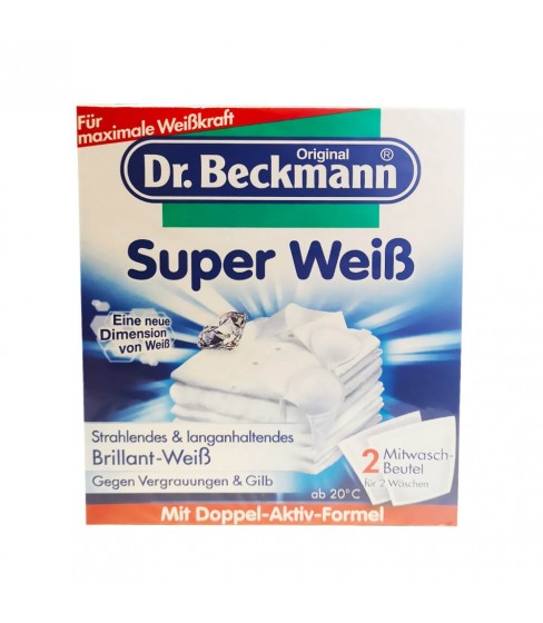 Dr Beckmann Super Weiss saszetki wybiel. 2x40g