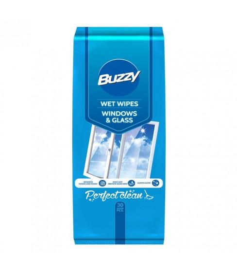 Buzzy chusteczki nawilżane do czyszczenia szklanych powierzchni 30 szt.