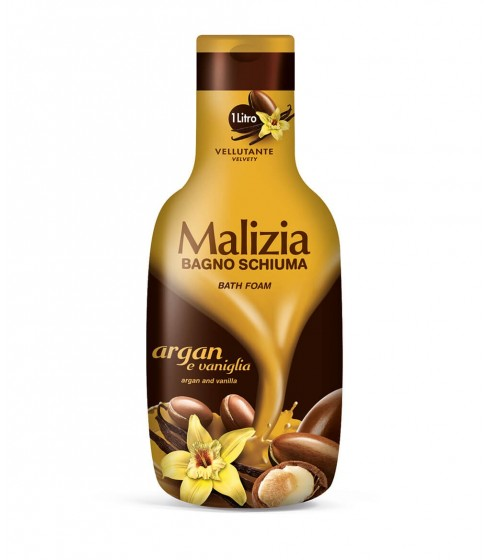 Płyn do kąpieli Malizia Argan and Vanilla 1 L