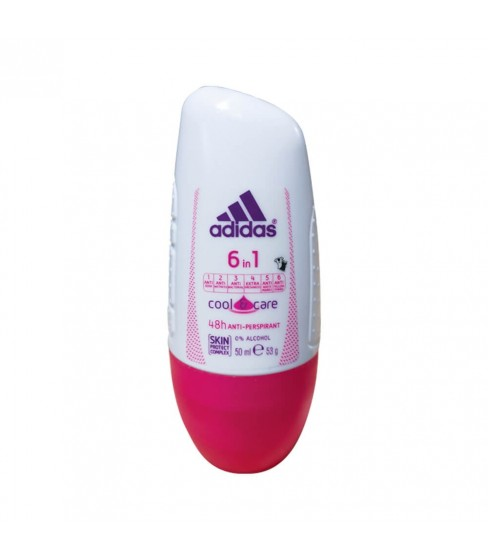Antyperspirant Adidas Deo Roll On - Cool&Care For Women 6in1 50ml