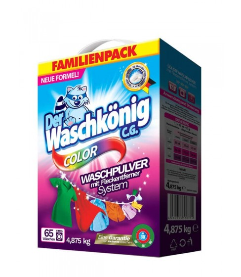 Proszek do prania Der Waschkönig C.G. Color 4,875 kg - 65 WL