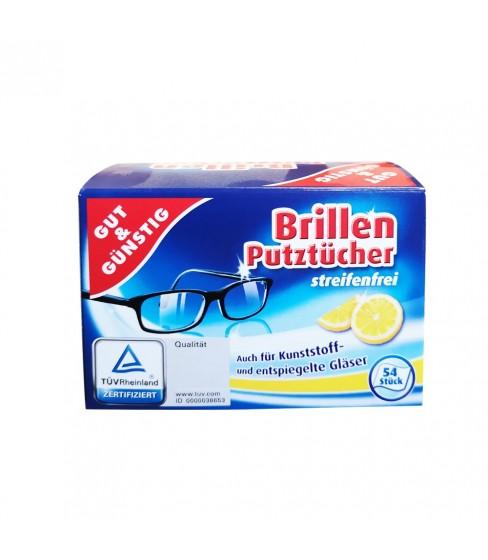 Gut & Günstig chusteczki do okularów 54 szt.
