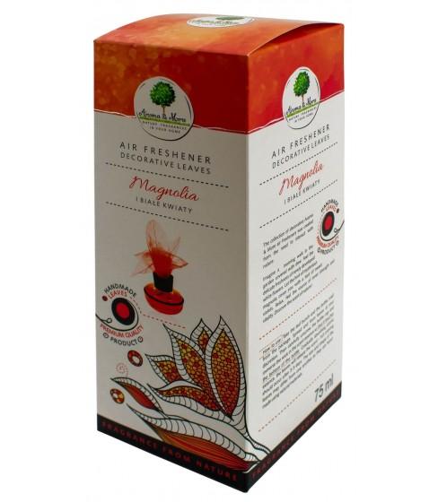 Odświeżacz powietrza Aroma&More Magnolia i Białe Kwiaty (listek) 75 ml