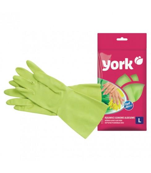 Rękawice gumowe aloesowe L York