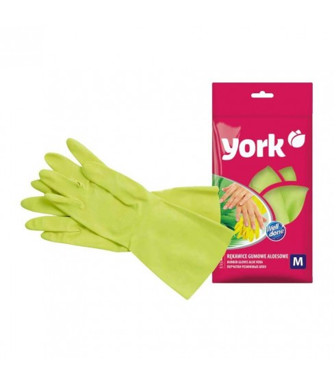 Rękawice gumowe aloesowe S York