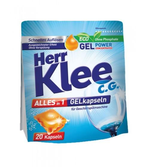 Kapsułki żelowe do zmywarki Herr Klee C.G. Alles in 1 20 sztuk