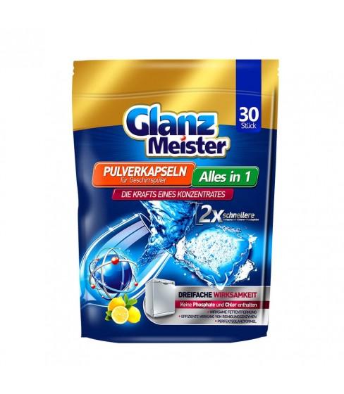 Kapsułki proszkowe do zmywarki GlanzMeister Alles in 1 30 sztuk