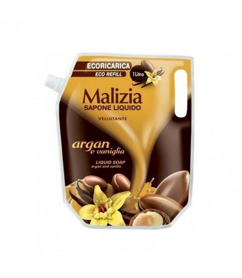 Mydło Malizia Argan and Vanilla 1000 ml (zapas)