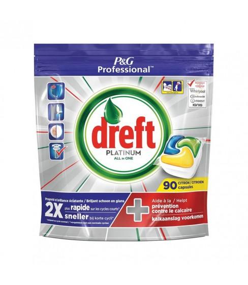 Kapsułki do zmywarki Dreft Platinum Lemon 90 sztuk