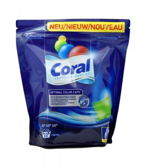 Kapsułki do prania Coral Optimal Color 22 sztuki