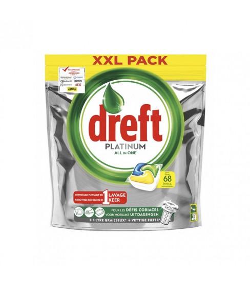 Dreft Platinum Lemon kapsułki do zmywarki 68 sztuk
