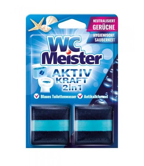 Kostka barwiąca do spłuczki WC Meister - zapach morski