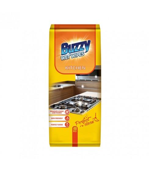 Buzzy chusteczki nawilżane do czyszczenia kuchni 48 szt.