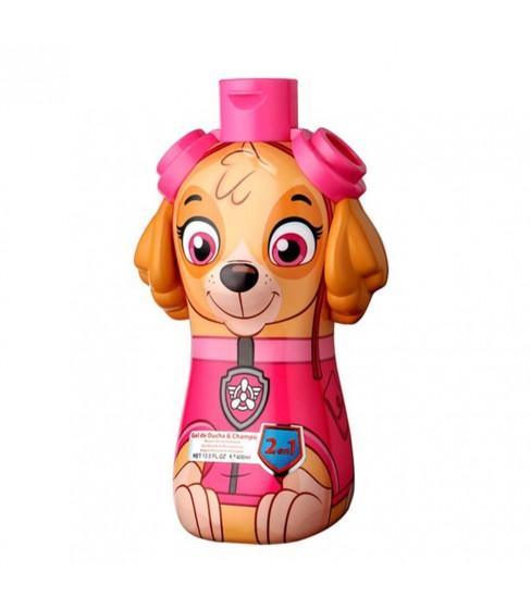 Psi Patrol Skye żel pod prysznic 2w1 400 ml butelka 3D