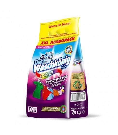 Proszek do prania Der Waschkönig C.G. Color 7,5 kg - 100 WL folia