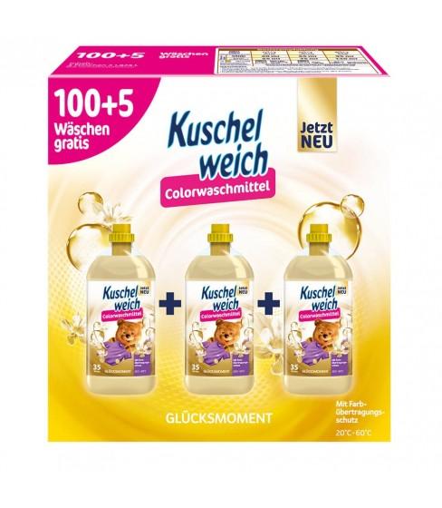 Kuschelweich płyn do prania Glucksmoment Color 3x1,925l -105 WL