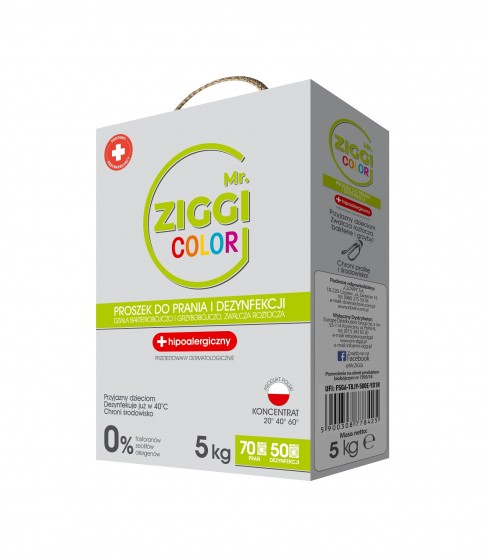 Mr. ZIGGI Color proszek do prania 5 kg
