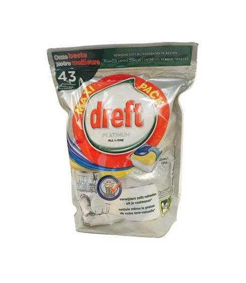 Kapsułki do zmywarki Dreft Platinum Lemon 43 sztuki