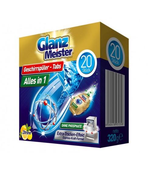 Tabletki do zmywarki GlanzMeister Alles in 1 20 sztuk