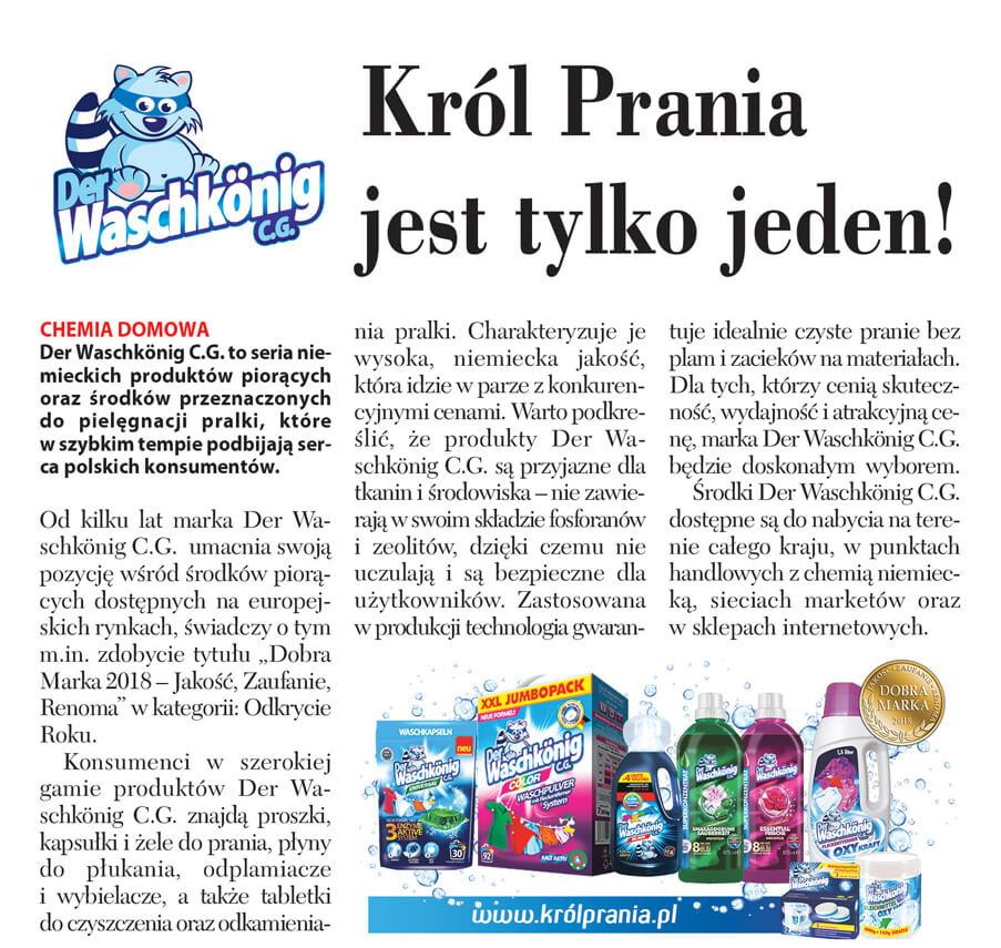 Artykuł o marce Waschkonig w Rzeczpospolitej