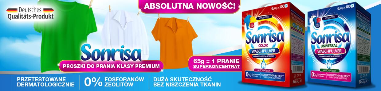 Proszki do prania klasy premium - Sonrisa - hurt